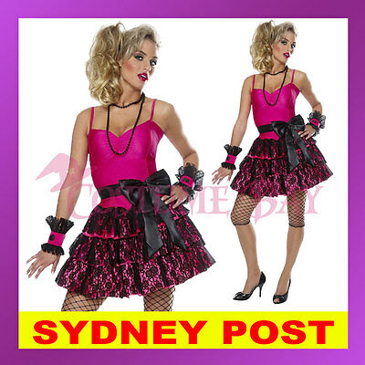 80s Madonna Pop Star Diva Cyndi Lauper Material Girl Dress Up Hens Party Costume