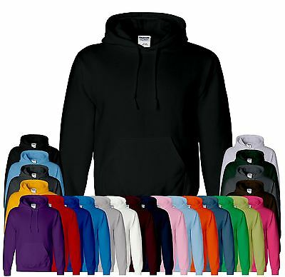 New Men Boy Unisex Gildan Heavy Blend Plain Hooded Sweatshirt Sweat Hoody Jumper