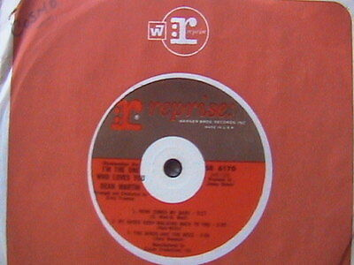 """DEAN MARTIN """"I'M THE ONE WHO LOVES YOU"""" 7"""" EP 6 TRACKS 1965 RAT PACK MEMBER"""