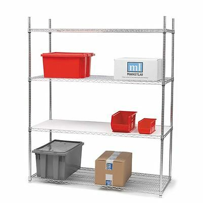 Wire Shelving 4 shelves 72 x 24 x 72 1 set