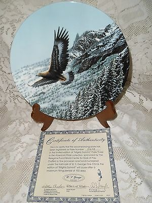 COLLECTOR PLATE ~ Mighty Summit ~ American Pride Collection ~ Eagle COA 1160 A