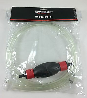 BikeMaster Motorcycle Fluid Extractor Siphon Hose Gas Hand Pump Triumph BMW