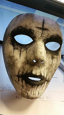 Halloween Handmade Custom Painted Cross Scary Mask The Purge Anarchy Costume NEW