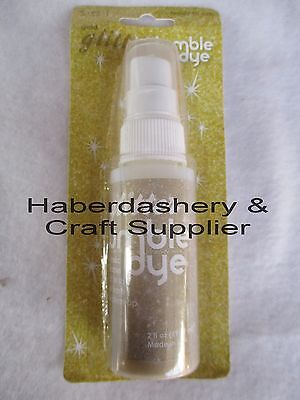 Fabric & Craft Dye *permanent Gold Glitter *water Based
