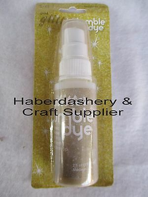 Fabric & Craft Dye *permanent*water Based Gold Glitter