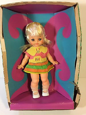 Vintage 1960s Horsman Teenie Bopper Doll w/Box Fully Jointed