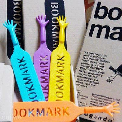 4PCS Cute HELP ME Hand Bookmark Novelty Ducument Book Marker Label Stationery