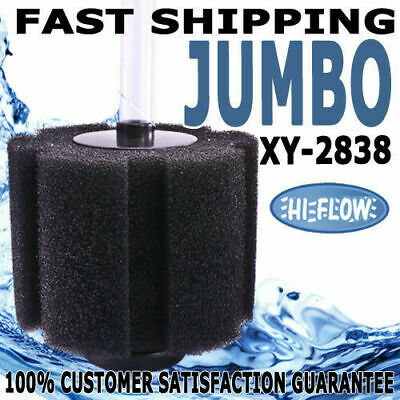 XY-2838 Aquarium Internal Sponge Bio Filter Jumbo HI-FLOW Fish Pond Tank 850L