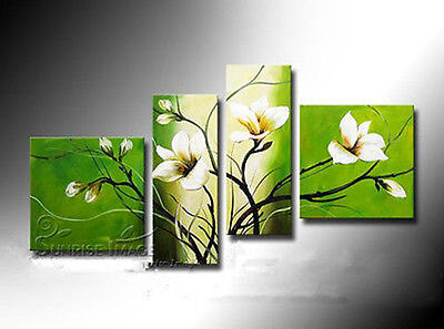 4pc Hand-painted Abstract Oil Painting on canvas wall decor (NO Frame)