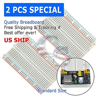 2X Mini 400 Points Prototype PCB Solderless Breadboard Protoboard
