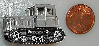 Tracked tractors gray with moving Chains TT 1:120 å