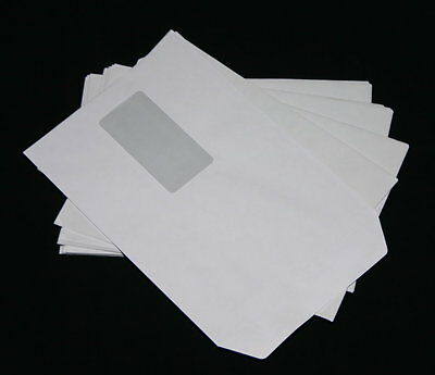 50 St Envelopes C5/A5 White Self-Adhesive with fenster162 x 229 mm