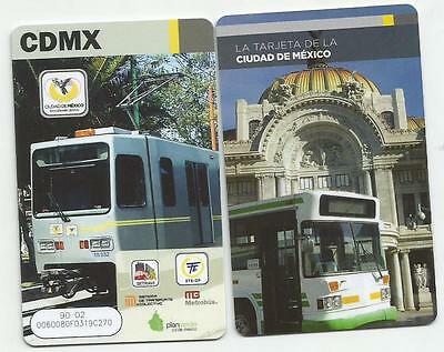 MEXICO CITY - SUBWAY - METRO - RECHARGEABLE CARD - FOR COLLECTION