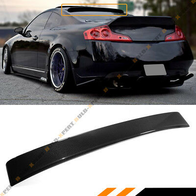 Fits 03-07 Infiniti G35 Coupe Jdm Real Carbon Fiber Rear Roof Top Spoiler Wing
