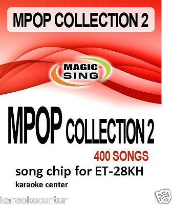 ET28KH #2 ENTERTECH MAGIC SING MIC 400 Song POP ROCK Country Collection Chip