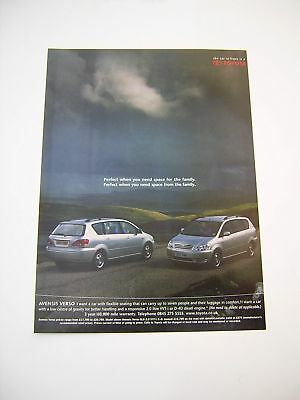 Toyota Avensis Verso Advert from 2001 - Original