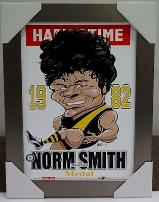 Maurice Rioli Richmond 1982 Norm Smith Medal Afl Harv Time Print Framed