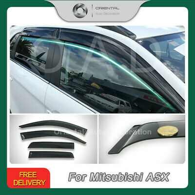 Premium Weathershields Weather Shields Window Visors Mitsubishi ASX 10-18 new