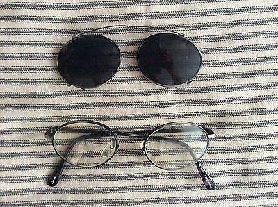 Vintage Eyeglasses with Sunglass Attachment