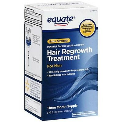 Equate Men's Hair Regrowth Topical Solution 5% Minoxidil. 3 Months Supply. 2021