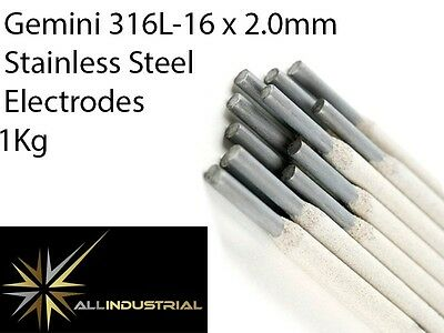 Stainless Steel Stick Electrodes Gemini 2.0mm E316L-16 (1Kg Pack)