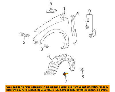 TOYOTA OEM-Fender Liner Screw Right 90159A0012