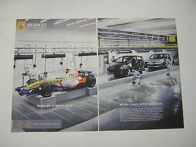 Renault Cars Advert from 2007 features F1 - Original