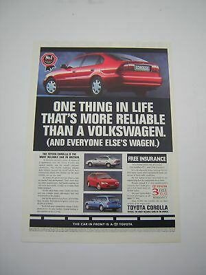 Toyota Corolla Advert from 1994 - Original