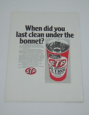 Original Advert from 1973 - STP Petrol Treatment