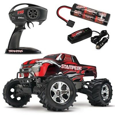 Traxxas Stampede 4X4 XL-5 Brushed RTR RC Truck w/TQ 2.4GHz & ID Battery! 67054-1