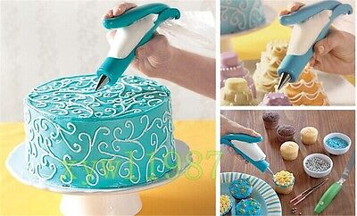 Pastry Icing Piping Bag Nozzle Tips Fondant Cake Cookies Decorating New Easy Pen