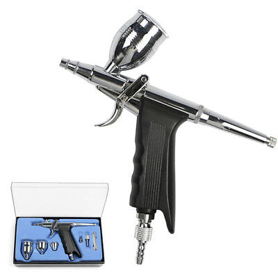 Airbrush Spray Gun 0.2/0.3/0.5mm Needle Double-action Trigger Painting Kit Tools
