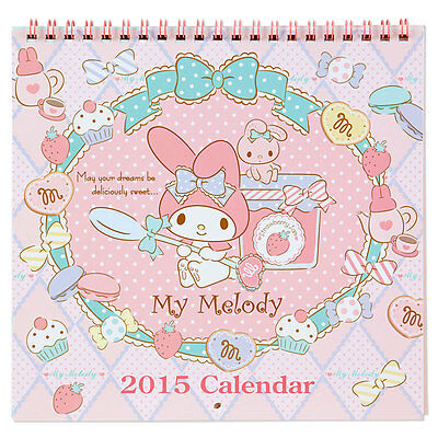 My Melody 2015 Wall Calendar cute kawaii Japan Limited Rare Sanrio original