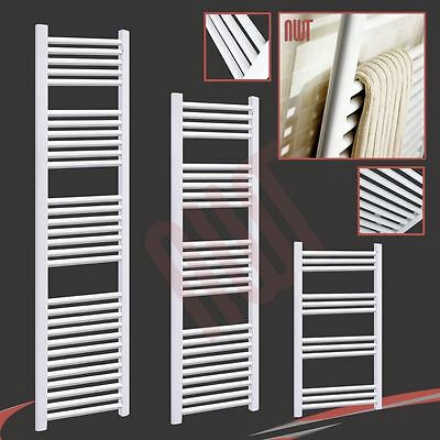 Straight White Heated Towel Rails, Ladder Rails, Radiators - High Quality!