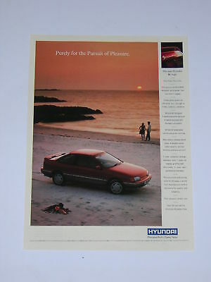 Hyundai S Coupe Advert from 1990 - Original