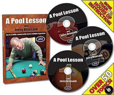 A Pool Lesson With Jerry Briesath DVD Factory sealed!
