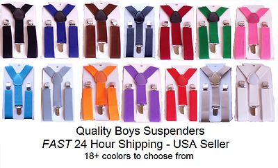 Buy 1, Get 1 FREE! ANY color combo! Kids Toddlers Suspenders & Bow Ties