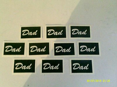 10 - 400 Dad word stencils for etching on glass  hobby craft Christmas glassware