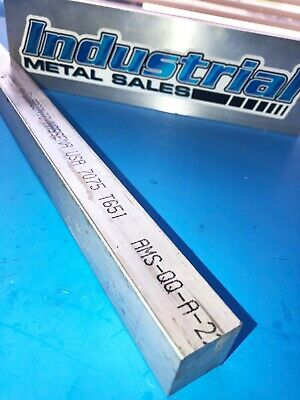 "1"" x 12""-Long 7075 T651 Aluminum Square Bar-->7075 Square Bar 1.0"""