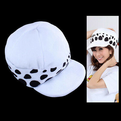 One Piece Hat Cosplay Trafalgar Law Hat Two Years Later Plush Cartoon White Cap