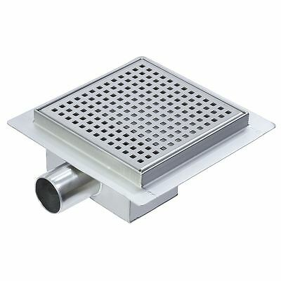 """200mm Stainless Steel """"Square"""" Wetroom / Shower Drainage System"""