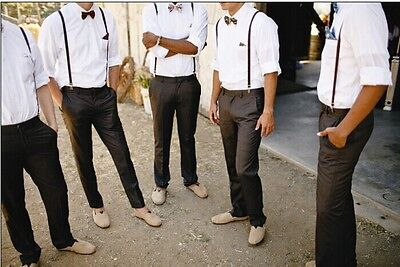 The Groom's Best Man Suit Including (Trousers+ Bowtie+ Shirt) Custom make