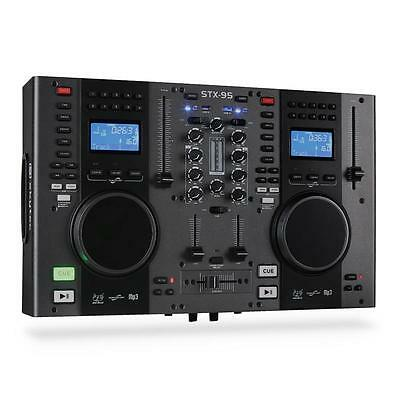 Skytec STX-95 DJ SCRATCH CONTROLLER DOPPEL CD PLAYER USB MP3 MIXER MISCHPULT