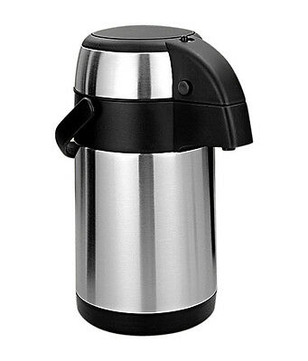 Airpot Flask Hot Cold S/s Pump Action Vacuum Thermos Tea Coffee Drink 2.5/3/4/5L