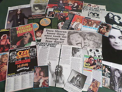 Ozzy Osbourne - Rock Music Celebrity - Clippings /cuttings Pack