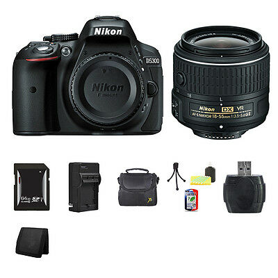 Nikon D5300 DSLR Camera - Black 64GB Package