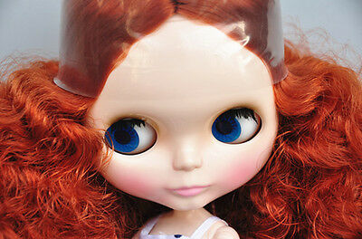 """Takara 12"""" Neo Blythe Red Curly Hair Nude Doll from Factory TBO101"""