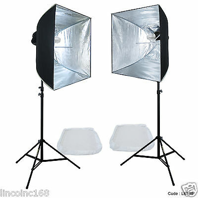 Linco Lincostore Studio Lighting Strobe Flash Photo Softbox Light Kit