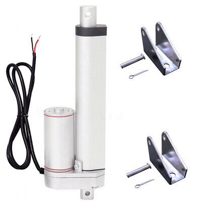 """200mm 8"""" Stroke Linear Actuator 330lbs Electric DC Motor W/ Bracket for Car Auto"""