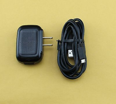 OEM Pantech Travel Wall Home Charger + 5 Feet Micro USB Data Cable - 1A Output